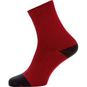 GORE WEAR C3 Dot Chaussettes mi-hautes, red/black